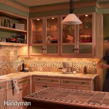 Backsplash Lighting Awesome How To Install Under Cabinet Lighting In Your Kitchen The Family