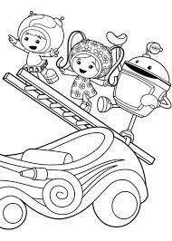 Small Picture Milli and Geo with Bot Climb with Ladder in Team Umizoomi Coloring
