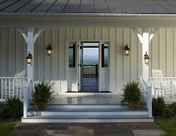 farmhouse exterior lighting porch with metal roof white in design 6