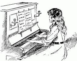 Collection Of Girl Playing Piano Drawing Download More Than 30