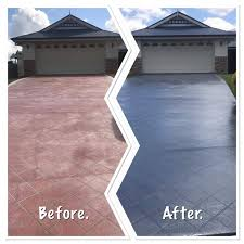 driveway painting sealing in brisbane by waterworx pressure cleaning