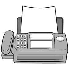 Faxフリーイラスト シンプルフリーイラスト