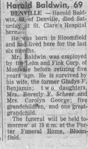 Obituary for Harold Baldwin (Aged 69) - Newspapers.com