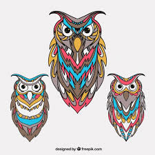 Free Vector | Beautiful <b>ethnic owl</b> collection