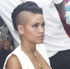 the shaved sides with volume on top short black hair styles