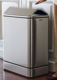 stainless steel kitchen trash can. Modern Kitchen Trash Can Inspiring 66 Gallery Simple Stainless Steel Popular B