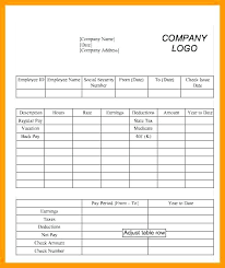 independent contractor pay stub template free generator new independent contractor pay stub template blank