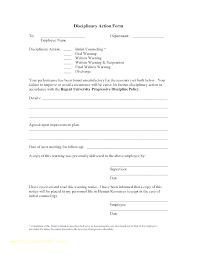 Disaplinary Forms Disciplinary Report Template Awesome Write Up Form Format Employee