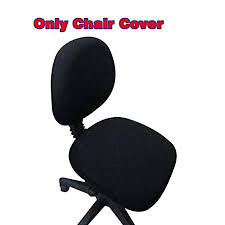 office desk cover. Fittoway Spandex Universal Computer Office Desk Chair Covers Stretch Rotating Pure Color Cover (Black