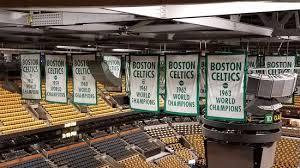 garden banners. Celtics Banners Hanging In TD Garden