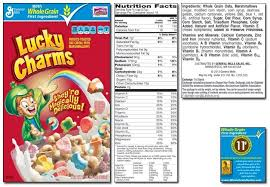 Lucky Charms Dr Parr Says Inside Nutrition Label For Lucky