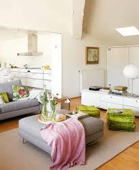 grey sofa and beige carpet for white living room decorating ideas using bamboo floor design using unique slanted ceiling