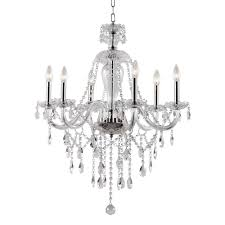 transglobe 6 light polished chrome chandelier