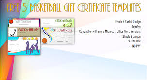 Gift Certificate Template Microsoft Word Adorable Basketball Gift Certificate Templates Word Biya Templates