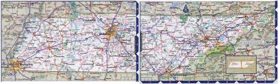 large detailed roads and highways map of tennessee state with all