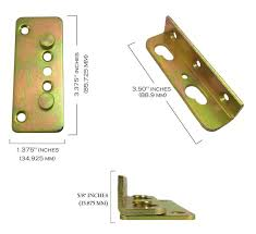 premium no mortise bed rail brackets complete set of 4
