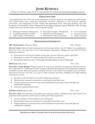 Chefs Cv Example Resume Cover Letter Template