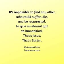 christian easter poems and songs