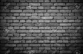 Weathered Black Brick Wall Background Stock Photo