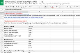 how to budget as a college student budgeting basics for college students plus example spreadsheet