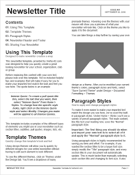 Black Template Free Newsletter Templates For Word