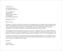 One Weeks Notice Letter 11 Notice Of Resignation Letter Templates Doc Pdf Free