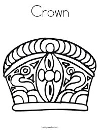 Small Picture Crown Coloring Page Twisty Noodle