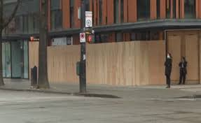 Victoria confirmed 66 new cases of coronavirus on friday, with two suburbs outside a lockdown zone recording a high number of additional infections over the past week. Boards Go Up At B C Shops As Thieves Exploit Coronavirus Lockdown Globalnews Ca