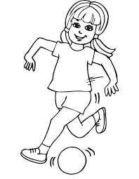 Small Picture Soccer Coloring Page Girl running with ball