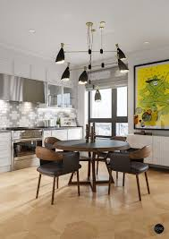 mid century lighting. explore this astonishing apartment with mid century lighting l