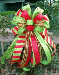 how to make a tree topper bow