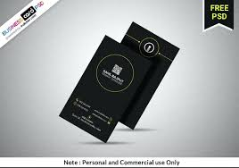 Professional Clean Black Vertical Business Card Template