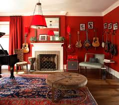 Persian Rug Living Room Decorating A Guitar Living Room Eclectic With Trellis P Oriental