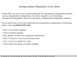 Best Ideas Of Transportation Dispatcher Cover Letter Examples