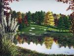 On the Green is one of four golf prints by NC artist Patricia Hobson