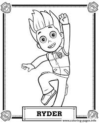 Print Paw Patrol Ryder Coloring Pages Brandons 3rd Birthday Paw