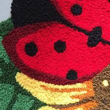 Fashion Cartoon Sunflower Ladybug Carpets Handmade Embroidery ...