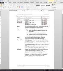 Sales Training Template Sales Training Procedure Ad1050