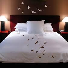shanickers handpainted birds in flight queen size duvet cover with shams plus decals 209 00
