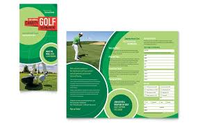 Brochure Template Word Beauteous Golf Flyer Template Publisher Golf Tournament Tri Fold Brochure