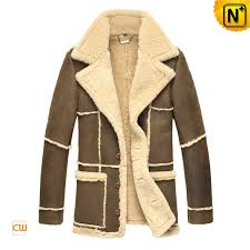 mens fur leather trench coat cwmalls com