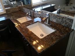 Orion Exotic Granite Vanity & Granite Tile Backsplash
