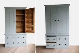 handmade solid wood larder unit freestanding kitchen units pertaining to free standing kitchen larder cupboards