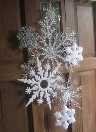<b>30 Pcs</b> White Snowflakes Christmas Ornaments Home Decoration ...