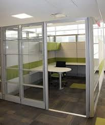 tall office partitions. Item # 38221 These Tall Glass Office Partitions Were Installed At A Client To Make Private Offices.