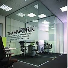 office wall decal. N.SunForest Quotes Wall Decal Teamwork Definition Office Decor Inspirational Lettering Sayings Art A