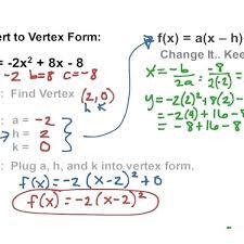 quadratic equation solved math quadratics vertex form math algebra quadratic equations with regard to standard form