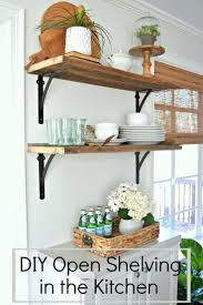 Shelves In Kitchen 17 Best Ideas About Open Shelving In Kitchen On Pinterest Open