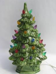 Ceramic Tabletop Christmas Tree With Lights New Little Ceramic Tabletop Christmas Tree Retro Vintage Lightup Tree