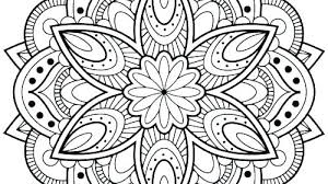 Abstract Flower Coloring Pages For Adults To Print Flowers Free